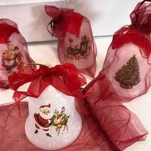 Mr. Christmas Set of 4 Illuminated Glass Bell